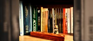 My books on shelf banner