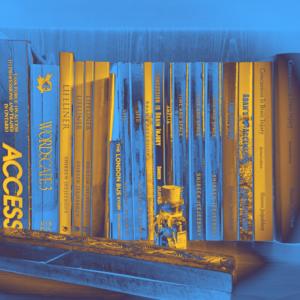 Jeejeebhoy Website Logo Bookshelf in Blue